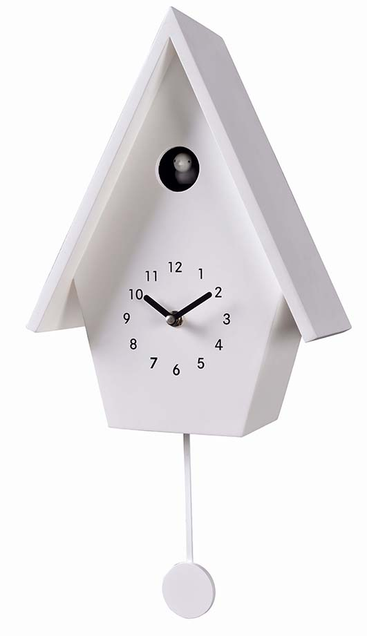 Modern Style Bird House Swing Pendulum Cuckoo Wall Clock